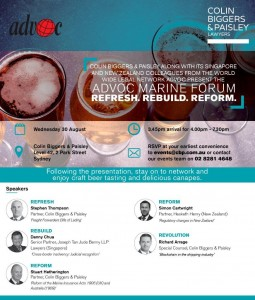 Invitation - ADVOC Marine Forum - Syds Small
